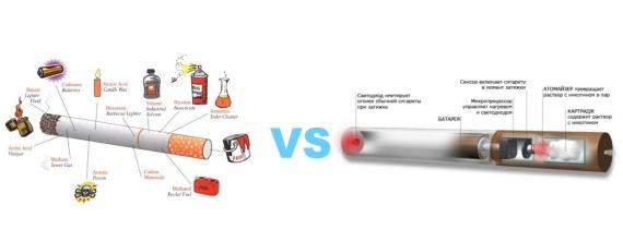 Сигарета vs электронная сигарета